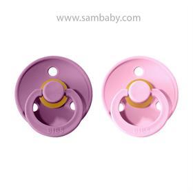 BIBS Colour dudlík z přírodního kaučuku č.2 lavender-baby-pink