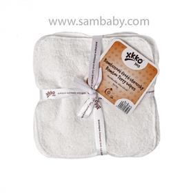 XKKO Bambusové ubrousky froté ®BMB 21x21cm - Natural 5ks
