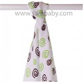 XKKO Bambusová plena/osuška ®BMB Spirals 90x100 cm - Lime