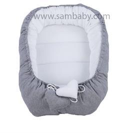 Sambaby hnízdo pro miminko šedo-bílé