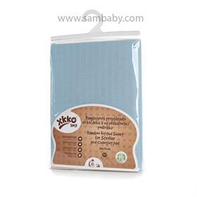 Bambusové prostěradlo s gumou XKKO BMB 50x70 - Baby Blue