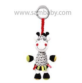 Babyono Hračka na C kroužku vibrační C-MORE žirafa Adelle