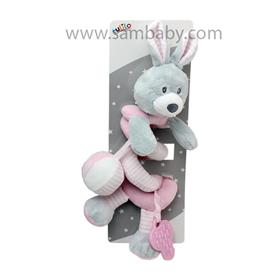 Tulilo Hračka +0m spirála králíček růžovo šedý