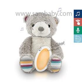 ZAZU Medvídek BRUNO - Šumící zvířátko s nočním světlem a hlasovým rekordérem