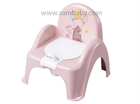 Tega Baby Nočník křesílko s protiskluzovou ochranou - růžový