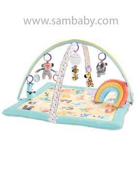 SKIP HOP Deka na hraní 5 hraček, polštářek ABC & ME 0 m+