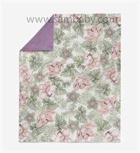 Kopie - AlberoMio letní deka Pink Flowers G013