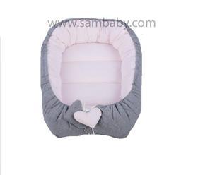 Sambaby hnízdo pro miminko šedo-růžové