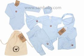 Zyzio&Zuzia komplet 8D bavlna modrý