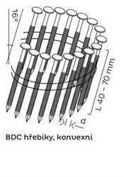 BDC hřebíky páskované ve svitku 16° konvexní (40-70mm) pro KMR 3515