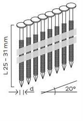 Hřebíky pro klempířské příchytky (25-31mm) pro KMR 3854