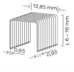 Spona čalounická typ K (6-16mm) pro KMR 3482
