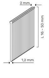 Hřebíky se zápustnou hlavou SK MINI (16 - 50mm) pro KMR 3483, 3489, 3883