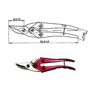 Nůžky na plech ROSTEX 240mm, převodové pravé, typ 2325