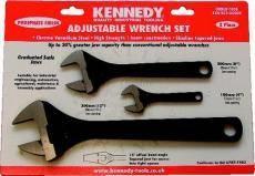 Sada stavitelných klíčů 100, 200, 300 mm s fosfátovým povrchem, KENNEDY