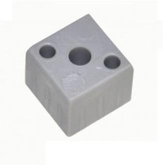 Plastová spojka (kostka) pro profil 20x20x1,5mm- šedá