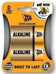 Baterie JCB alkaline LR20 2 ks (blistr)