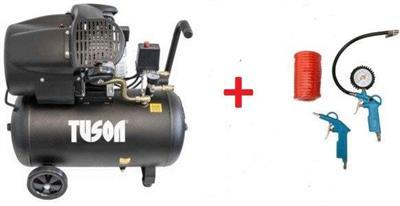Olejový kompresor dvoupístový 2,2kW; 3,0HP; 50l - TUSON 130024 + sada pneu příslušenství