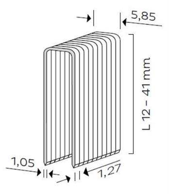 Spona čalounická typ C (12-41mm)
