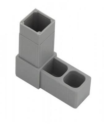 Plastová spojka L pro profil 20x20x1,5mm- šedá