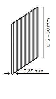 Hřebíky bez hlavičky (PIN - síla drátu - 0,65mm) pro KMR 3716