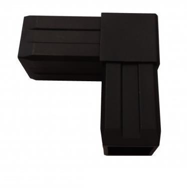 Plastová spojka L pro profil 40x40x2mm-černá