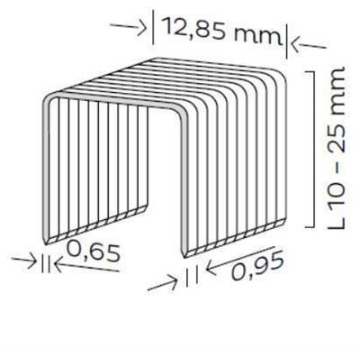 Spona čalounická typ K (10-25mm)