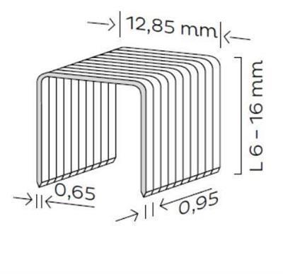Spona čalounická typ K (6-16mm)