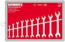 Sada klíčů maticových oboustranných Cr-V DIN3110 11ks, KENNEDY