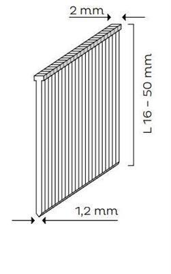 Kopie - Hřebíky se zápustnou hlavou SK MINI (16 - 50mm)