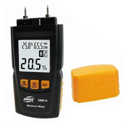 Digitální měřič vlhkosti dřeva, relativní vlhkosti vzduchu a teploty GM610