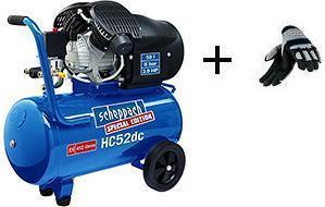 Dvouválcový olejový kompresor 8 bar HC 52 dc SCHEPPACH + rukavice ZDARMA