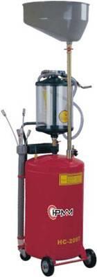 Pojízdná pneumatická nádoba na olej s odsávačkou a průhlednou nádobkou HC-2097