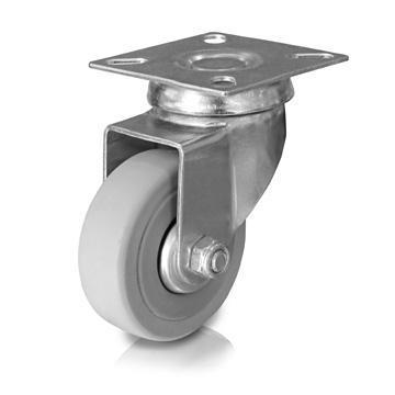Gumové kolečko 50 mm s ploškou, nosnost 55kg