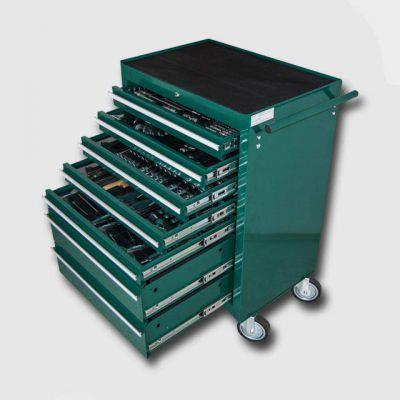 Montážní vozík na nářadí kovový vybavený 231dílů HONITON