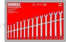 Sada profesionální očkoplochých klíčů 6 - 19mm, KENNEDY