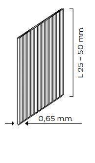 Hřebíky bez hlavičky (PIN - síla drátu - 0,65mm) pro KMR 3485