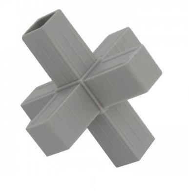 Plastová spojka 6D pro profil 20x20x1,5mm- šedá
