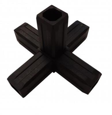 Plastová spojka 5D pro profil 30x30x2mm-černá