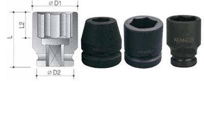 """Hlavice 27 mm 6-hranná  1/2"""" průmyslová rázová"""