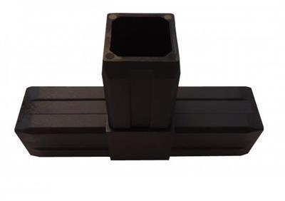 Plastová spojka T pro profil 40x40x2mm-černá