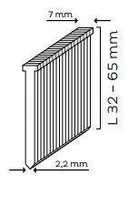Hřebíky (T-hřebíky) (2,2 mm) pro KMR 3718