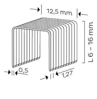 Spona čalounická typ A (6-16mm)