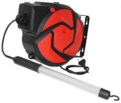 Automatický naviják s elektrickým kabelem 14 m a LED lampou C-14LEDCZ