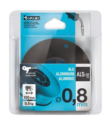 Cívka svařovacího drátu AlSi12 - 0,8 mm, plastová cívka 100 mm