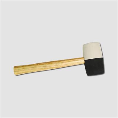 Palička gumová  65mm,dřevo černobílá