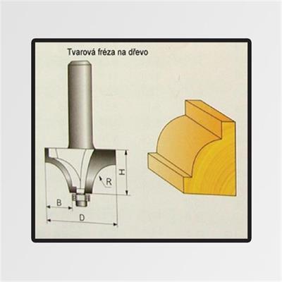 Tvarové frézy do dřeva 7,96x9,8mm
